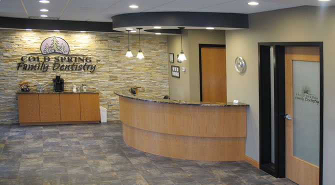 Cold Spring Family Dentistry Reception Area